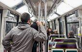 Passengers Inside Metro Subway Train