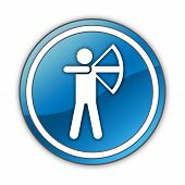 foto of archery  - Image Graphic Icon Button Pictogram with Archery symbol - JPG