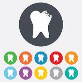 Tooth crystal sign icon. Dental prestige symbol.
