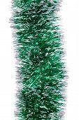 Christmas green tinsel