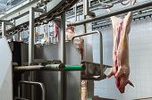 Butcher In Meat Industry Interior