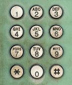 Dial Number Button On Old Used Public Telephone