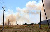 Prairie Fire Near The Settlement