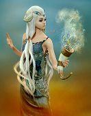 Fairy Of The Blue Dreams, 3D Cg