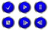 foto of intranet  - Blue web buttons for push  - JPG