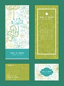 pic of invitation  - Vector mysterious green garden vertical frame pattern invitation greeting - JPG