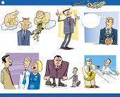 picture of clip-art staff  - Cartoon Illustration Set of Funny Businessmen and Business Concepts and Metaphors - JPG