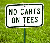 Golf No carts on tees