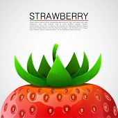 Fresh realistic strawberry background.