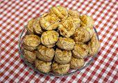 Scones. Freshly Baked Traditional Hungarian Cheese Cake Pogacsa