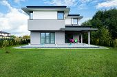 pic of enormous  - Photo of the new modern house with big garden - JPG