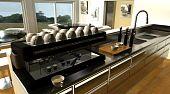 Cafe Bar Interior And Espresso Machine