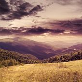 picture of marsala  - marsala toned composite mountain summer landscape - JPG