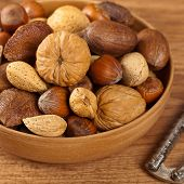 stock photo of mixed nut  - Mix of nuts - JPG
