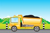 Cargo car on road