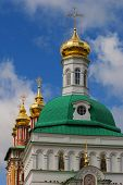 stock photo of trinity  - Church in the Trinity Sergius Lavra and blue sky in Sergiev Posad Zagrosk  - JPG