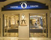 Entrance to O Theatre by Cirque du Soleil at the Bellagio hotel in Las Vegas