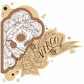 Engraving virgo