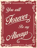 Vintage Poster With Love Quote
