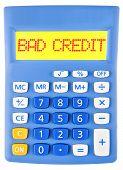 Calculator With Bad Credit