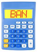 Calculator With Ban