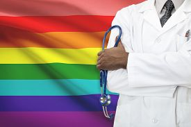 stock photo of bisexual  - Concept of national healthcare system  - JPG