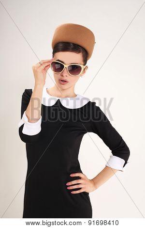 beautiful brunette woman in a