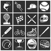 picture of baseball bat  - a set of icons relating to sport - JPG