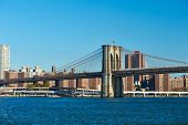 pic of brooklyn bridge  - Lower Manhattan skyline and Brooklyn bridge in New York City - JPG