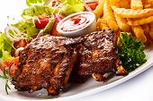 picture of ribs  - Grilled ribs - JPG