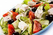 pic of greeks  - Greek salad on white background - JPG
