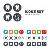 stock photo of toothpaste  - Tooth enamel protection icons - JPG