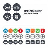 stock photo of ship  - Transport icons - JPG