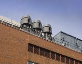 picture of fumes  - Air exhaust systems to remove fumes in laboratories on building roof - JPG