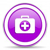 image of violet  - first aid violet icon hospital violet icon  - JPG