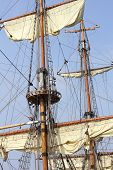 foto of ship  - The Russian sail training ship Mir is one of the biggest and fastest windjammer of the world - JPG