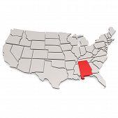 pic of alabama  - Alabama map image with hi - JPG