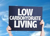 image of carbohydrate  - Low Carbohydrate Living card with sky background - JPG