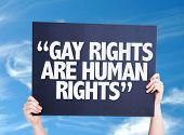 image of human rights  - Gay Rights Are Human Rights card with sky background - JPG