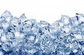 image of ice-cubes  - Ice cubes isolated on white background - JPG