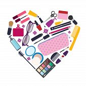 pic of cosmetic products  - Flat style vector illustration - JPG