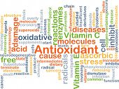 picture of enzyme  - Background concept wordcloud illustration of antioxidant - JPG