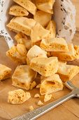 foto of toffee  - Honeycomb or cinder toffee hokey pokey sea foam known by many names and enjoyed around the world - JPG