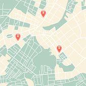 stock photo of cartographer  - Editable vector street map of town - JPG