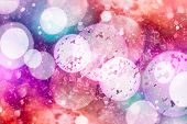 Festive Background With Natural Bokeh And Bright Golden Lights. Vintage Magic Background With Color poster