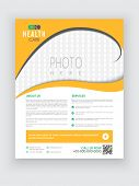 image of biomedical  - Stylish yellow and white Health Care flyer with blank space for your image - JPG