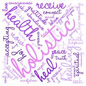picture of holistic  - Holistic word cloud on a white background - JPG