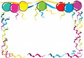 stock photo of oval  - vector drawing party balloons with oval and rectangle border - JPG