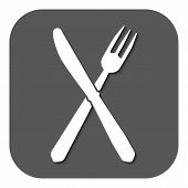 image of knife  - The knife and fork icon - JPG