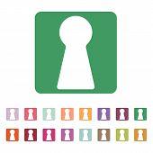 foto of keyholes  - The keyhole icon - JPG